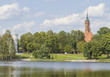 Lithuania, Druskininkai. View to the city from the lake