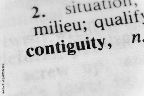Continguity Canvas Print