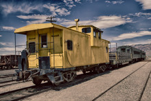 YELLOW CABOOSE-END OF TRAIN