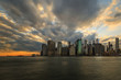 Sunset Skyline of Manhattan in New York City