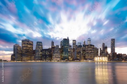 Sunset Skyline of Manhattan in New York City