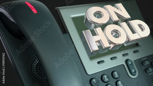 Fényképezés Telephone On Hold Waiting Bad Customer Service 3d Illustration