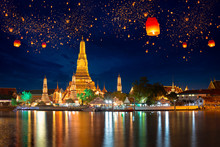 Wat Arun With Krathong Lantern...