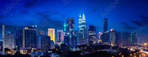 Door stickers Kuala Lumpur Kuala lumpur skyline at night, Malaysia