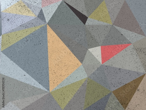 Fototapety, obrazy: Gray triangle abstract background