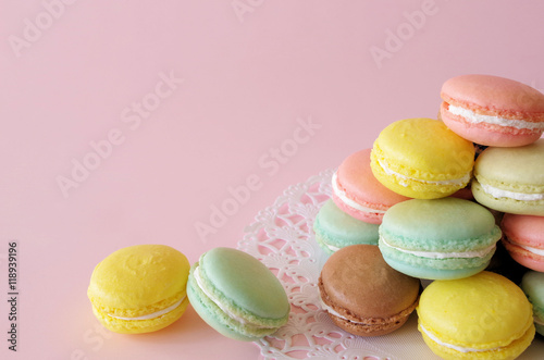 Photo sur Aluminium Macarons マカロンタワー
