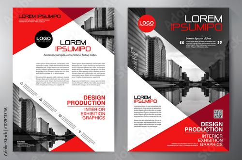 Fotografie, Obraz  Business brochure flyer design a4 template.
