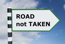 Road Not Taken Concept