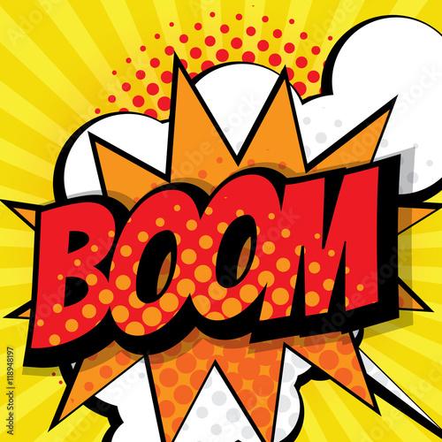 Fotografie, Obraz  boom pop art, comic book background