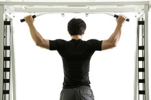 Man Shoulder And Arm Exercises With Bar Node