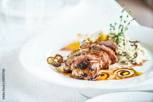 Poster Plat cuisine roasted duck
