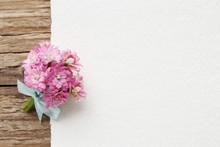 Beautiful Tiny Bouquet Of Pink Kalanchoe Blossfeldiana Flowers A