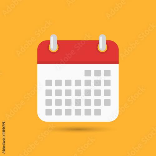 Obraz Calendar icon - Vector - fototapety do salonu