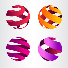 Set Of Abstract Sphere Logo