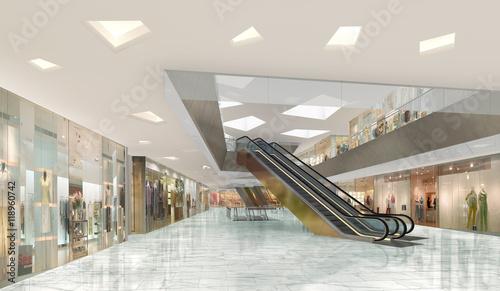 Fotografía  3d illustration of a shopping mall