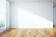 Leinwanddruck Bild - Interior with blank wall