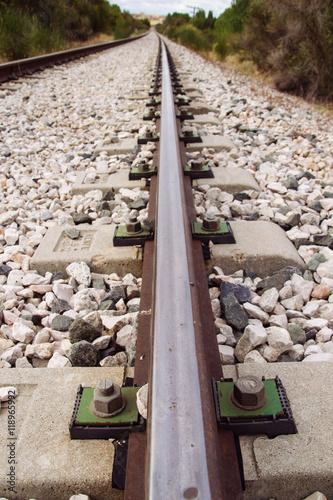 Vía del tren. Punto de fuga.
