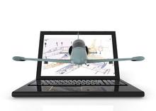 Aeronautical Engineering/ 3D Render Image Representing Aeronautical Engineering