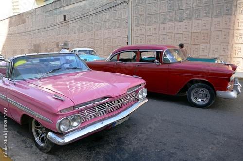Türaufkleber Autos aus Kuba Oldtimer auf Kuba