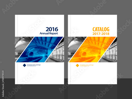 Cover Design For Annual Report And Business Catalog Magazine Flyer