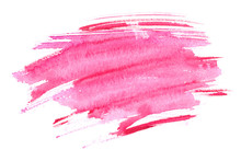 Bright Pink Wet Brush Strokes ...