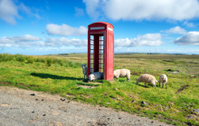 Red Phone Box On The Isle Of S...