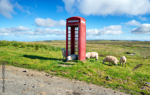 Red Phone Box on the Isle of Skye Poster