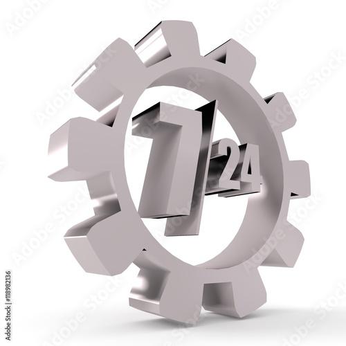 Fényképezés  timing badge symbol 7, 24