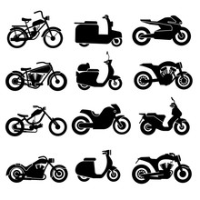 Motorcycle Black Vector Icons ...