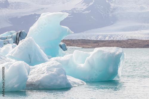 Aluminium Prints Glaciers Jokulsarlon Icebergs