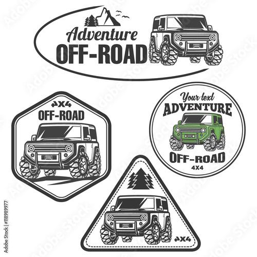 Car Logo Off Road 4x4 Suv Trophy Truck Comprar Este Vector