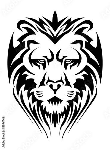 Fototapety, obrazy: calm lion head