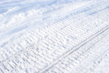 Winter Snowmobile Tracks