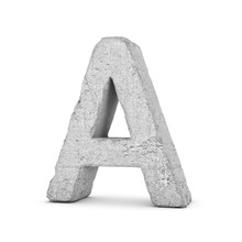 Concrete Letter A Isolated On ...