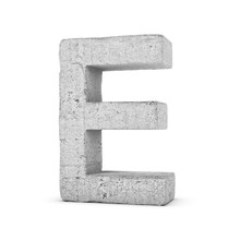 Concrete Letter E Isolated On ...