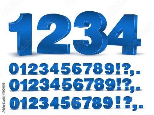 Fotomural  Blue vector numbers