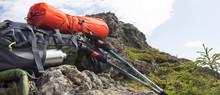 Mountain Backpack,isoprene And Trekking Sticks Equipment