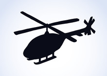 Helicopter. Vector Drawing