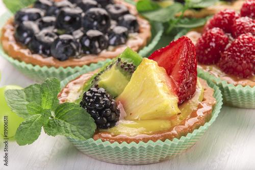 Fotografie, Obraz  Tortine di frutta