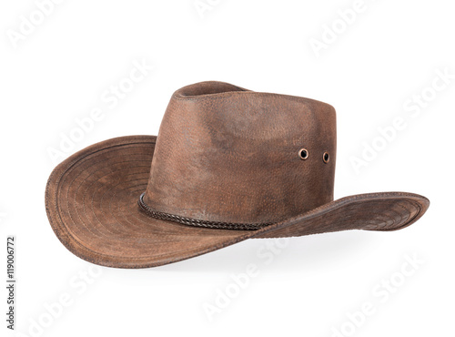 Western hat isolated