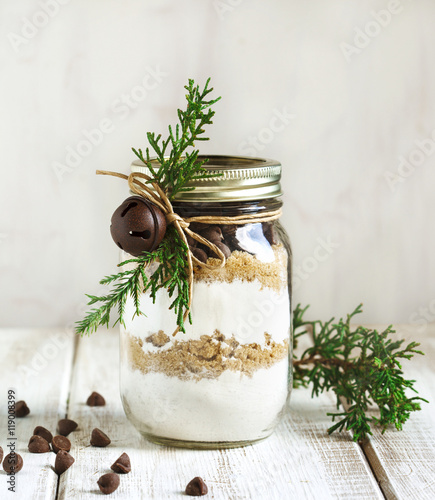 Tableau sur Toile Chocolate chips cookie mix for Christmas gift