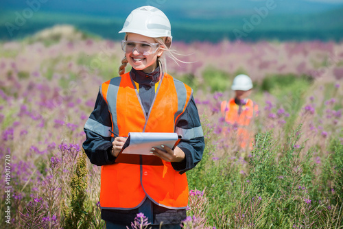 Valokuva  Researching recultivated field