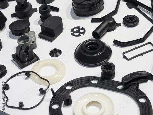 high precision aluminium part manufacturing by casting and machi Fototapet