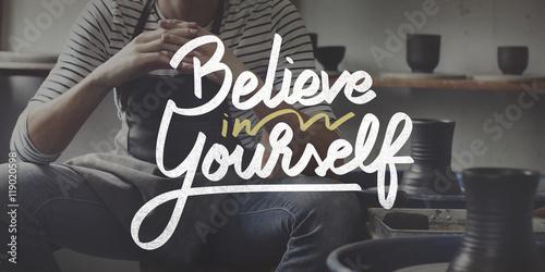 Fotografía  Believe In Yourself Confident Encourage Motivation Concept