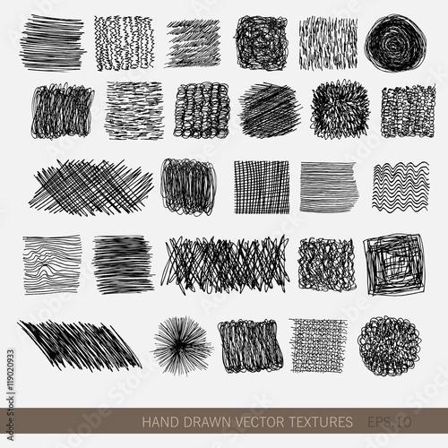 Valokuvatapetti Hand drawn vector textures