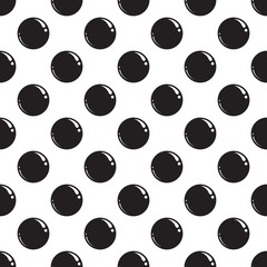 Fototapeta Seamless pattern with black dots. Vector illustration EPS 10