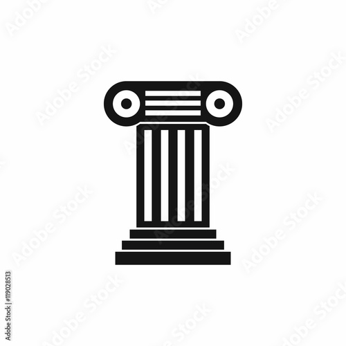 Foto op Aluminium Bedehuis Roman column icon in simple style isolated on white background. Structure symbol