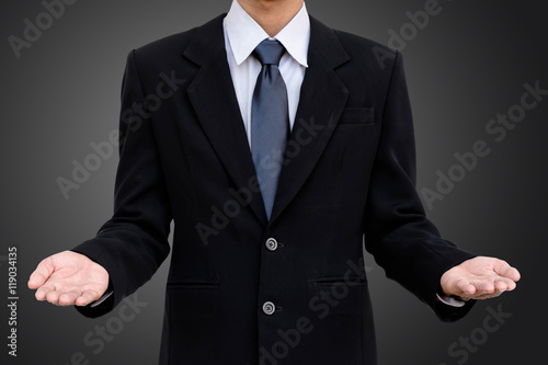 Business man template two hand  - Buy this stock photo and