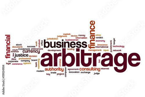 Foto Arbitrage word cloud