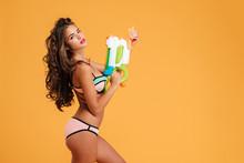 Portrait Young Girl In Bikini ...